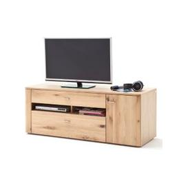 image-Buffalo Wooden Small TV Unit In Planked Oak
