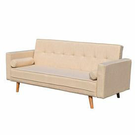 image-Mccarty 3 Seater Futon Sofa Mercury Row Upholstery Colour: Beige