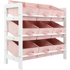 image-Murawski Rebrilliant 3 Tier Toy Box Rebrilliant Finish: Pink