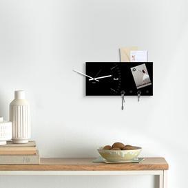 image-Wall Clock Key Hook Ebern Designs Finish: Black