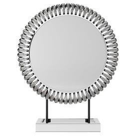 image-Glam Gem Edge Dressing Table Mirror Silver