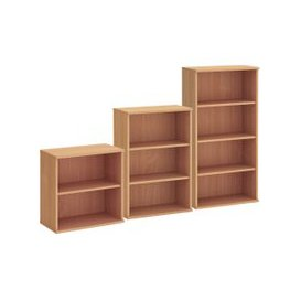 image-Proteus Bookcase, Oak, Free Delivered & Fully Installed Delivery