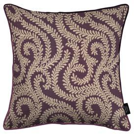 image-Little Leaf Aubergine Purple Cushion, Polyester Filler / 49cm x 49cm