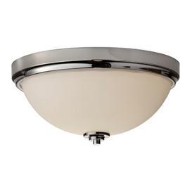 image-FE/MALIBU/F BATH Malibu 2 Light Polished Nickel Bathroom Flush Mount Light