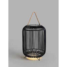 image-John Lewis & Partners Rattan Solar Powered Garden Lantern, Large