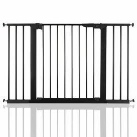 image-No Screw Stair Safety Gate Symple Stuff Colour: Black, Size: 60cm H x 140cm W