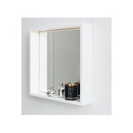 image-Bathroom Mirror Shelf, White, One Size