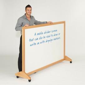 image-120cm x 180cm Wood Mobile 1 Panel Room Divider Symple Stuff Colour: White