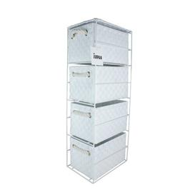 image-4 Drawer Storage Utility Cart House of Hampton Colour: White