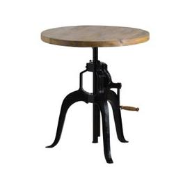image-Hill Interiors Draftsman Adjustable Bar Bistro Table