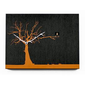 image-Myrtle Cuckoo Clock August Grove Finish: Black/Orange