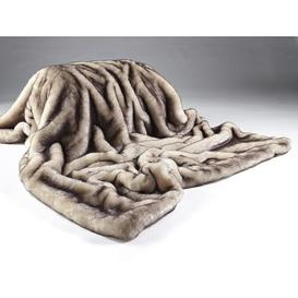 image-Faux Fur Throw Willa Arlo Interiors Size: 140 x 240cm, Colour: Brown Snow