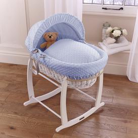 image-Dimple Moses Basket with Bedding Clair De Lune Colour: Blue