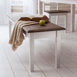 image-Canterbury Bench in Dark Pine and White Medium Wood Finish: Classic Wh