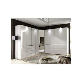 image-Wiemann VIP Shanghai Corner Wardrobe with Chrome Color Trim