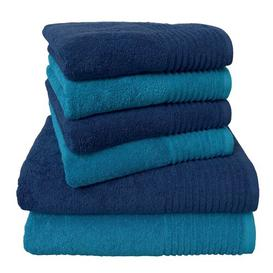 image-Brillant 6 Piece Towel Bale Dyckhoff Colour: Blue/Turquoise