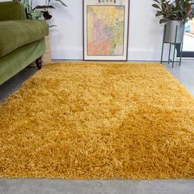 image-Super Soft Luxury Yellow Shaggy Rug - Aspen