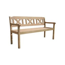 image-LG Outdoor Hanoi 3 Seat Crossback Bench by LeisureGrow