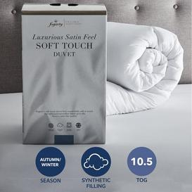 image-Fogarty Soft Touch 10.5 Tog Duvet White
