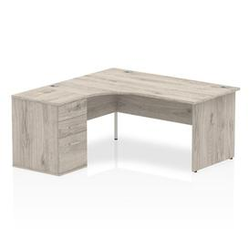 image-Zetta Executive Desk Ebern Designs Size: 73 cm H x 160 cm W x 80 cm D, Orientation: Left