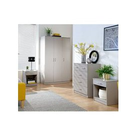 image-Almandite Wooden 4Pc Bedroom Furniture Set In Grey