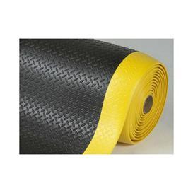 image-Somersby Anti-fatigue Doormat Borough Wharf Mat Size: 1cm H x 90cm W x 150cm L, Colour: Black/Yellow