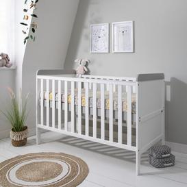 image-Rio Cot Bed with Mattress and Cot Top Changer Tutti Bambini Colour: White & Dove Grey