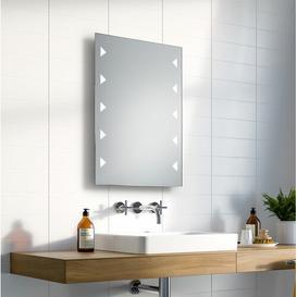 image-Chris LED Illuminated Bathroom Mirror Wade Logan Size: 70cm H x 50cm W x 3.2cm D