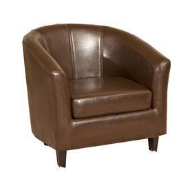 image-Clairville Tub Chair Marlow Home Co. Upholstery Colour: Brown