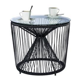 image-Stough Outdoor Side Table Latitude Run Colour: Black