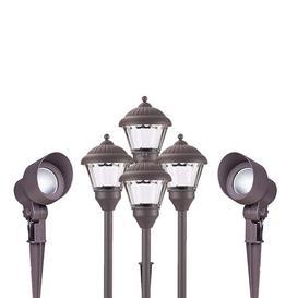 image-6 Piece LED Landscape Lighting Set Duracell Lighting