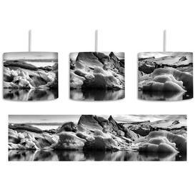 image-Beautiful Iceberg Landscape 1-Light Drum Pendant East Urban Home Shade colour: Black/White