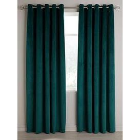 image-Thermal Velour Eyelet Curtains