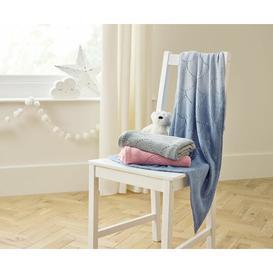 image-Baby Blanket Clair De Lune Colour: Blue