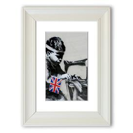image-'Child Labour' Framed Graphic Art East Urban Home Size: 40 cm H x 30 cm W, Frame Options: Matte White