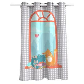 image-Woodson Eyelet Semi Sheer Thermal Curtain Isabelle & Max