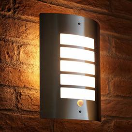 """image-""""Fyffe 11.65"""""""" H Frosted Outdoor Bulkhead Light with Dusk to Dawn"""""""