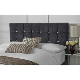image-Cody Chenille Upholstered Headboard Rosdorf Park Size: Kingsize (5'), Upholstery: Charcoal