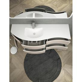image-Janae 9-Piece Bathroom Furniture Set with LED Mirror Ebern Designs Furniture Finish: Bleached Oak/White