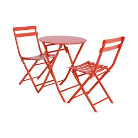 image-Nifleim Folding Steel Bistro Table Sol 72 Outdoor Colour: Pumpkin