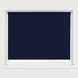 image-Straight Edge Semi-Sheer Roller Blind Ebern Designs Finish: Navy, Size: 160 cm L x 120 cm W