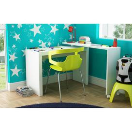 image-Chester White Kids Corner Desk