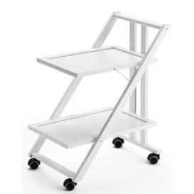 image-Braden Serving Cart Brambly Cottage Frame Finish: White