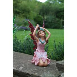 image-Arev Fairy Figurine with Solar Lights Sol 72 Outdoor Colour: Pink/Beige