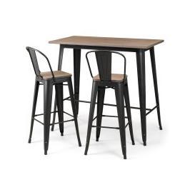 image-Grafton Bar Set with 2 Stools Black