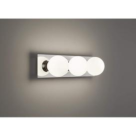 image-Modern LED Polished Chrome 3 Light Bar IP44 Bathroom Over Mirror Wall Light