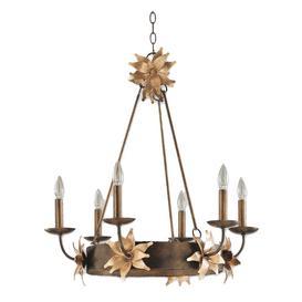 image-FB/SIMONE6 6 Light Bronze and Gold Ceiling Pendant