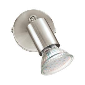 image-Eglo 92595 Buzz-LED 1 Light Wall Spotlight In Satin Nickel