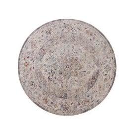 image-Soraya Traditional Circle Rug Silver