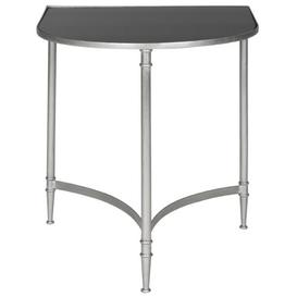 image-McMillan Side Table Bloomsbury Market Size: 76.2cm H x 78cm W x 45cm D, Colour (Table Base): Silver